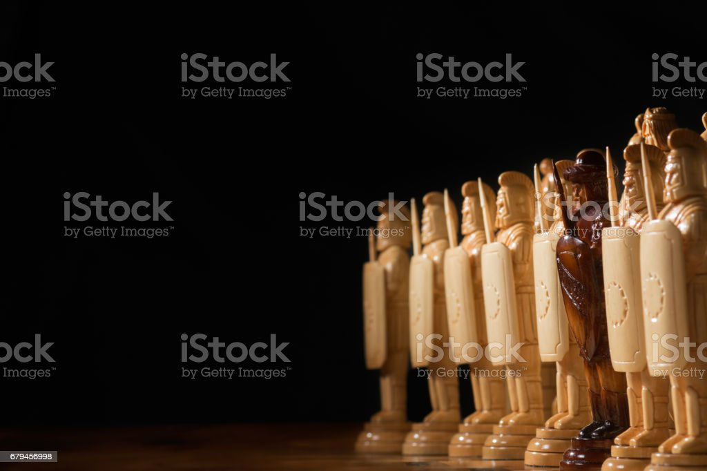 white chess is on a chessboard royalty-free stock photo