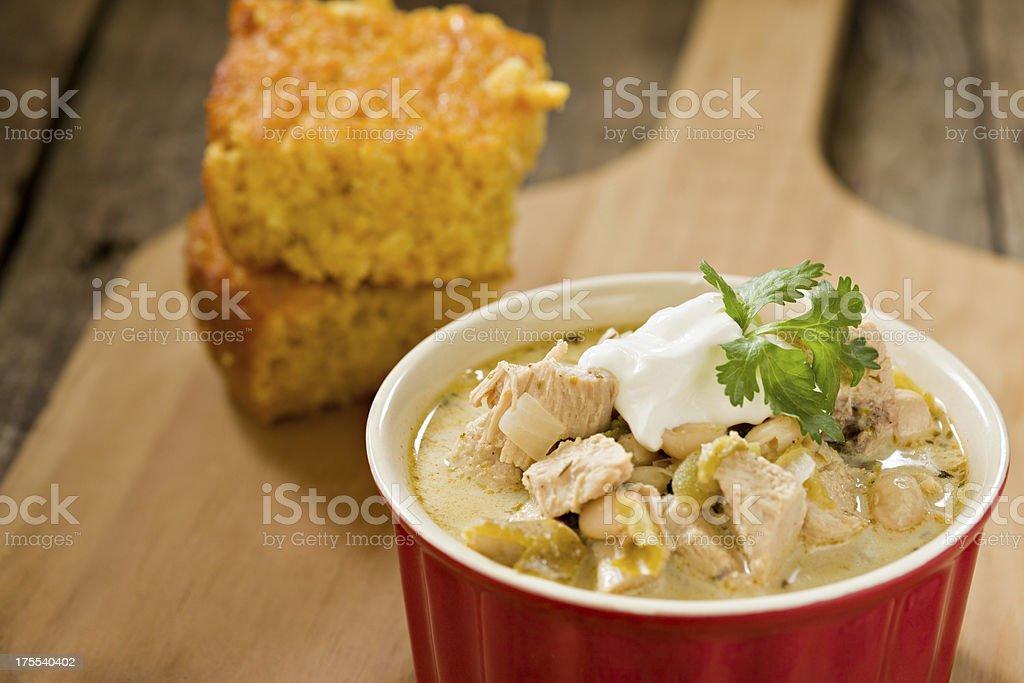 White Chicken Chili stock photo
