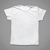 White Children T-Shirt (Clipping Path)