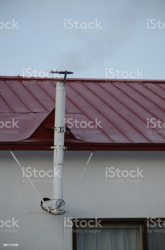 White chimney royalty-free stock photo