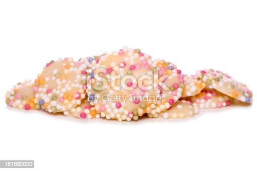 white chocolate buttons with sprinkles studio cutout