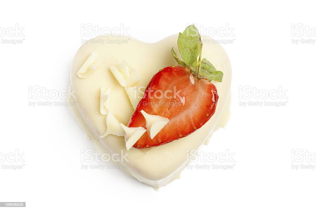 White chocolate cake with a Strawberry royalty-free stock photo