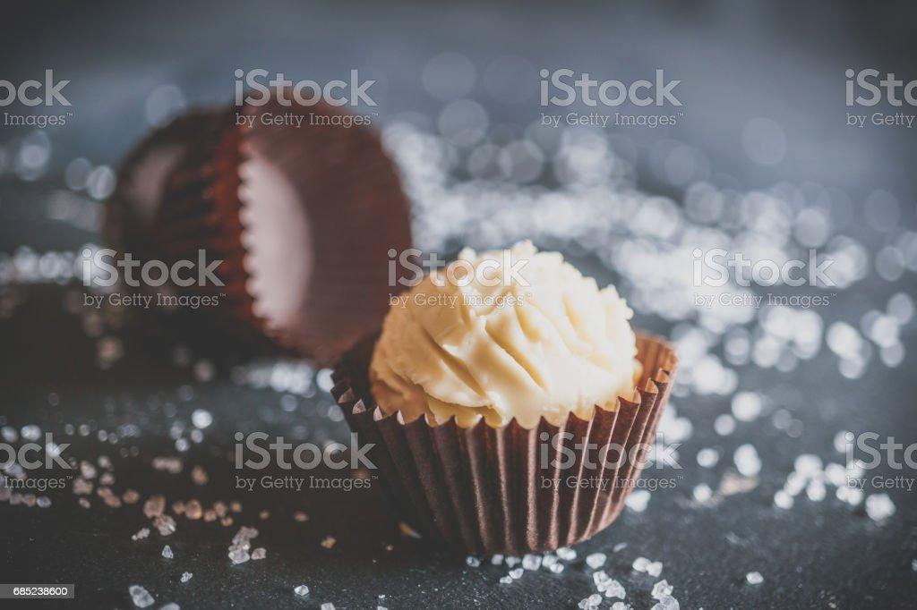 White chocolate candy foto de stock libre de derechos