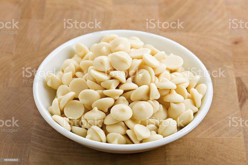 White Chocolate Chips royalty-free stock photo