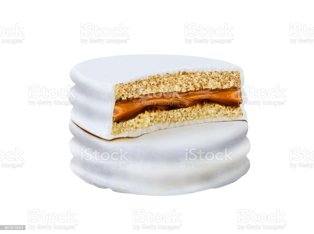 galleta de chocolate blanco - foto de stock