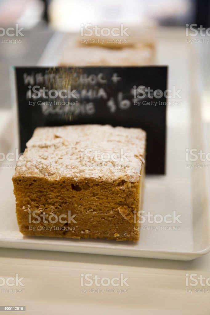 Weiße Schokolade Wüste - Lizenzfrei Ansicht von oben Stock-Foto