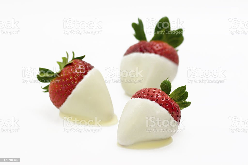 White Chocolate Dipped Strawberries royalty-free stock photo