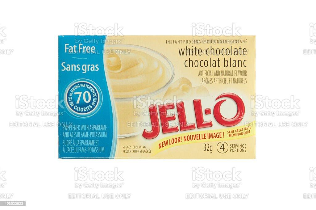 White Chocolate Jello Pudding royalty-free stock photo