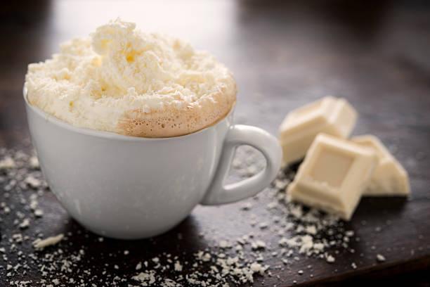 weiße schokolade mokka - mocca stock-fotos und bilder