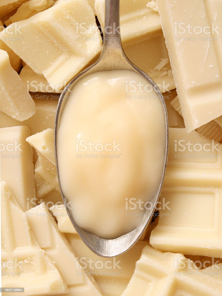 White chocolate pudding royalty-free stock photo