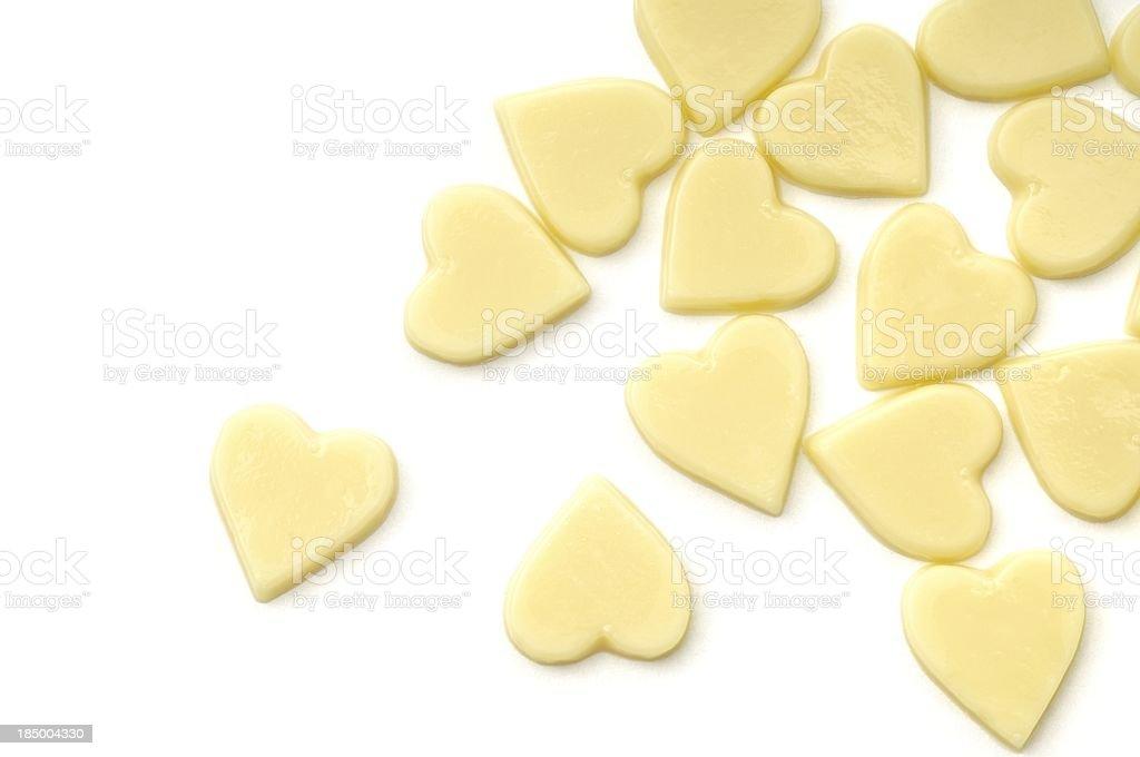 White chocolate romance royalty-free stock photo