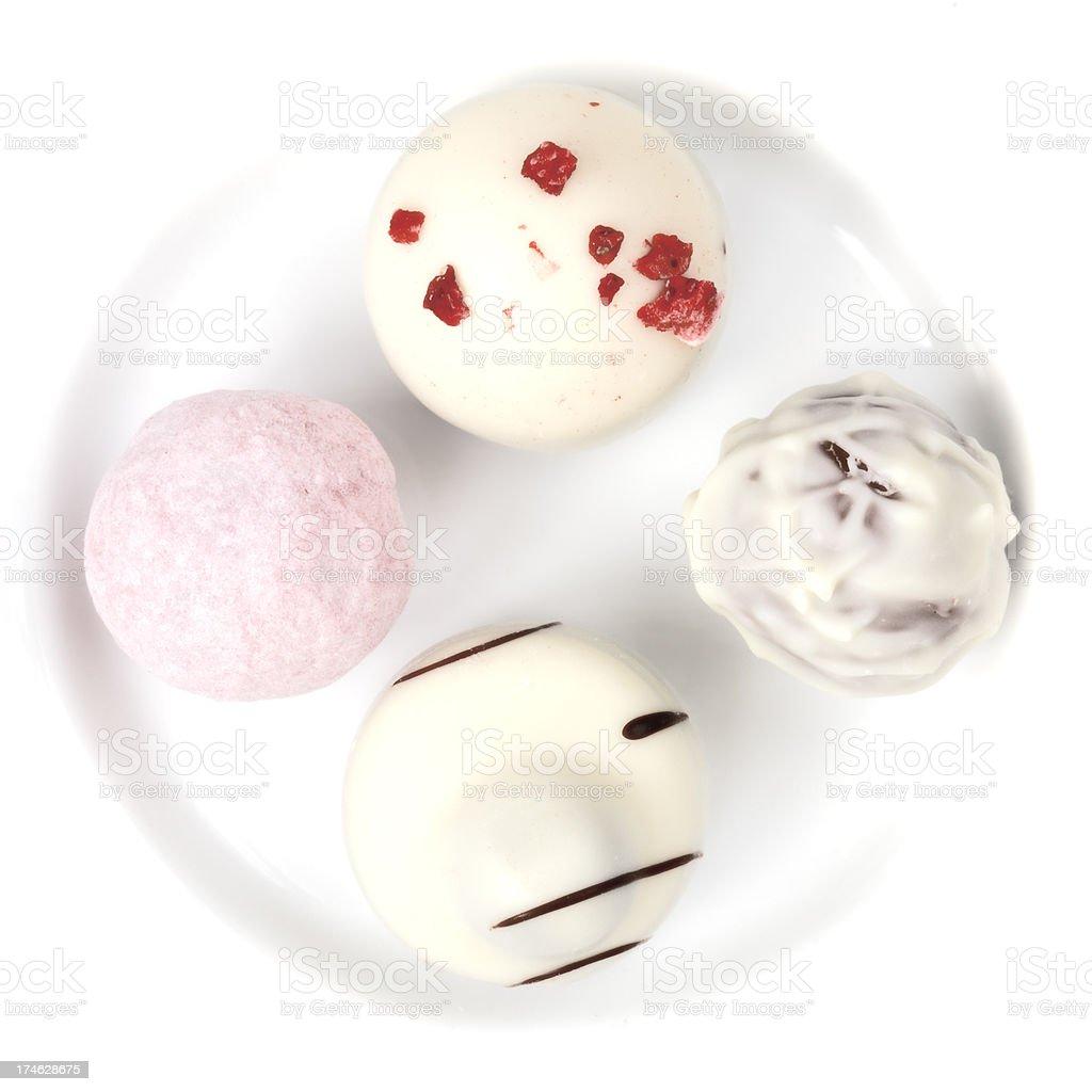 White chocolates royalty-free stock photo
