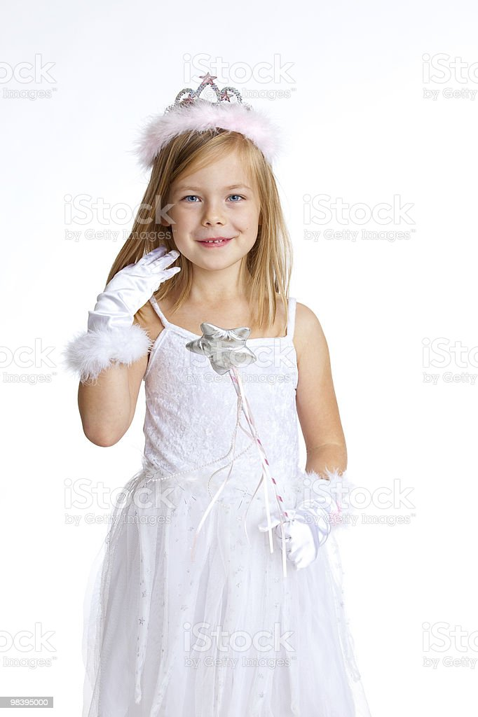 white christmas angel royalty-free stock photo
