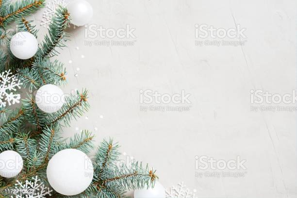 White christmas background with christmas tree branches snowflakes picture id1172710522?b=1&k=6&m=1172710522&s=612x612&h=rfd6uqh3btmkzdap93wti pednskqg qatmnitrbv8o=