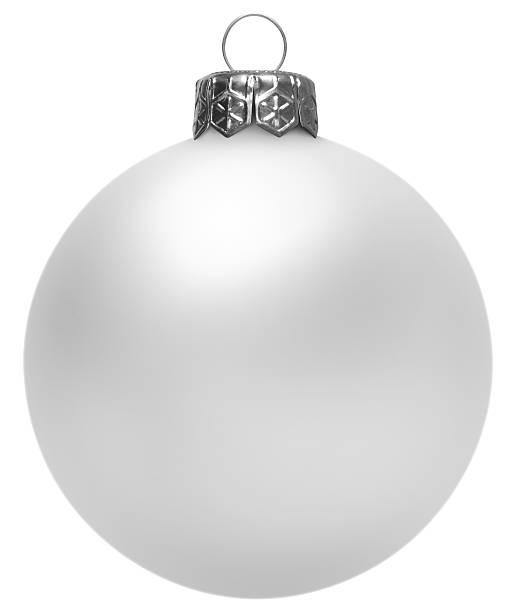 White Christmas Ball (Isolated) stock photo