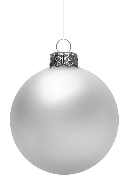White Christmas Ball (Isolated) stock photo