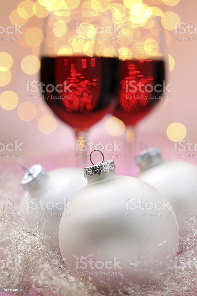 White christmas balls royalty-free stock photo