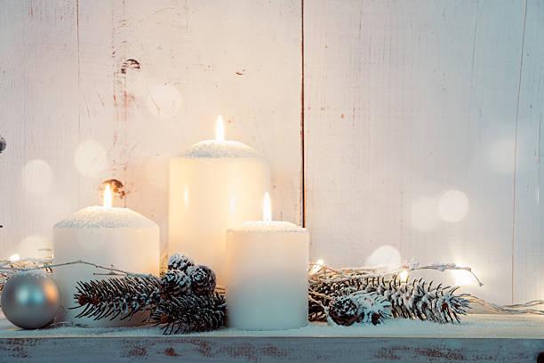 White Christmas Kerzen – Foto