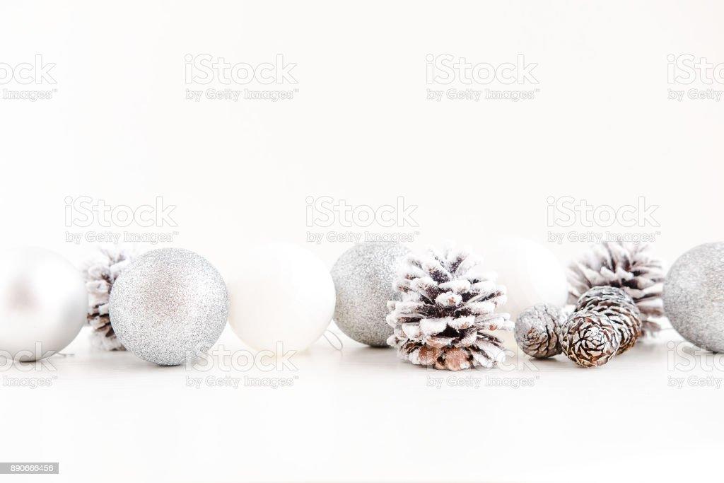White Christmas decoration layout stock photo