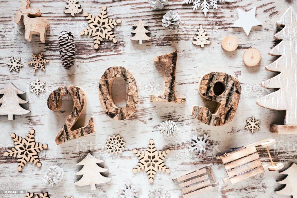 2019 Weiße Weihnachten.Weiße Weihnachten Dekoration Text 2019 Rustikalen Hölzernen