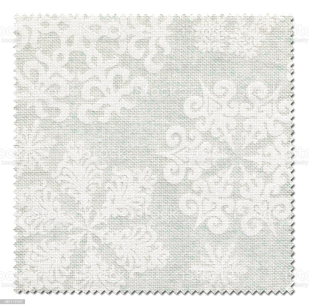 White Christmas Fabric Swatch (Clipping Path) royalty-free stock photo