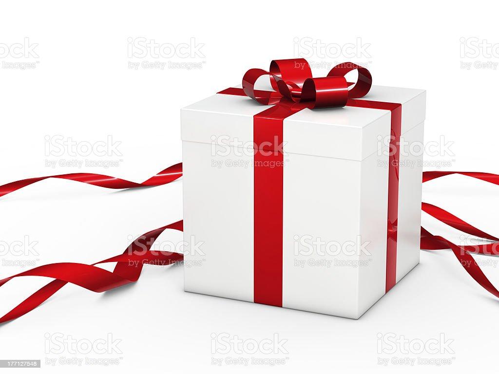 white christmas gift royalty-free stock photo