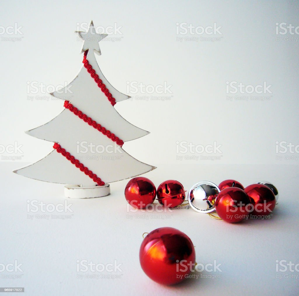 White Christmas Árbol artesano Christmas Stock Photo