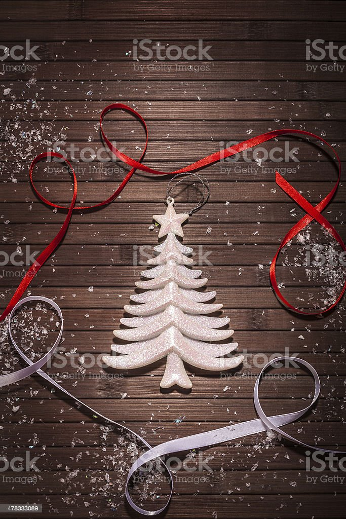 white Christmas Tree royalty-free stock photo