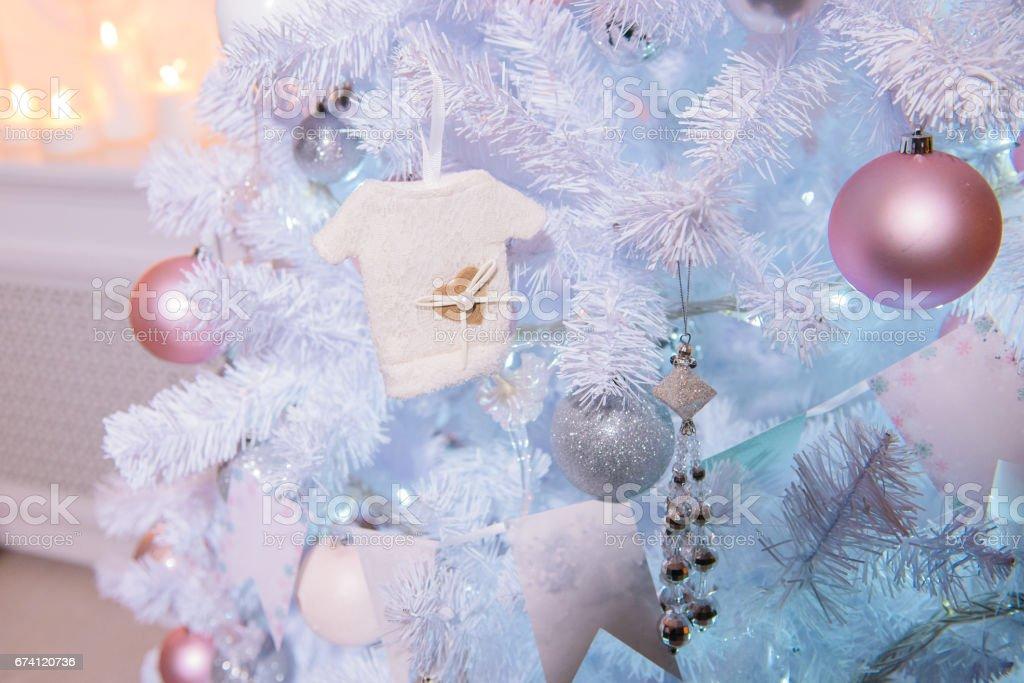 White Christmas tree 免版稅 stock photo