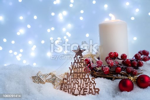 865140324 istock photo White christmas with snow 1063291414