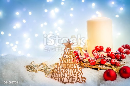 865140324 istock photo White christmas with snow 1064568708
