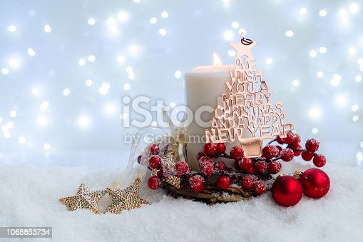 865140324 istock photo White christmas with snow 1068853734