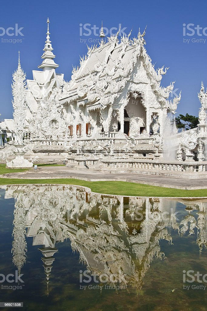 White church in north of Thailand royalty-free stock photo