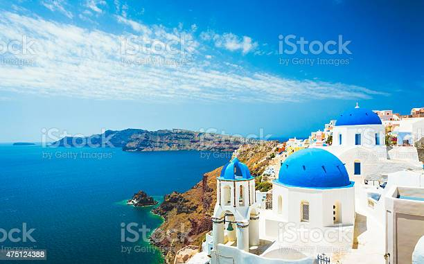 Church in Oia (Santorini, Greece).