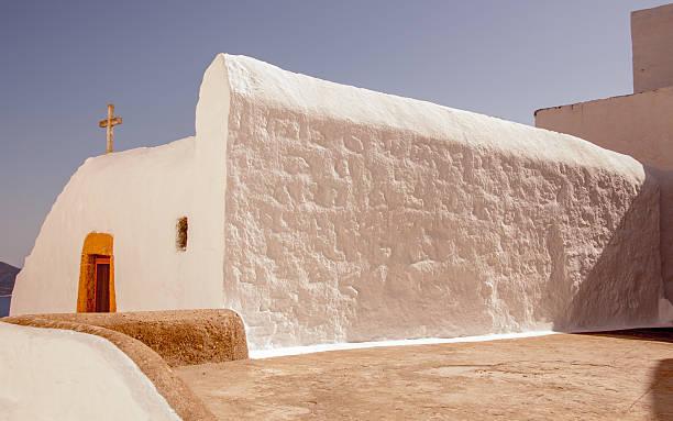 White Church Patmos stock photo
