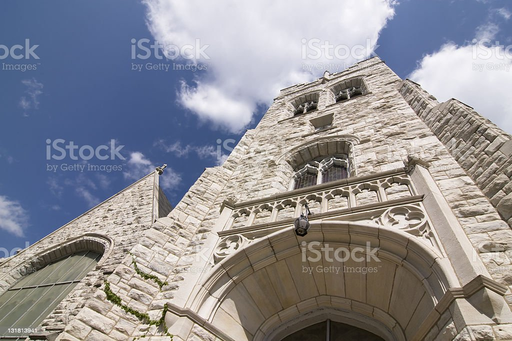 White Church stock photo