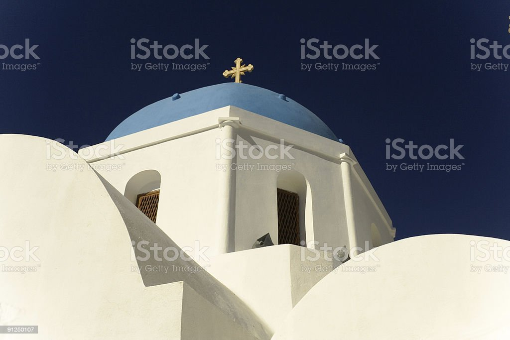 White church, Santorini stock photo