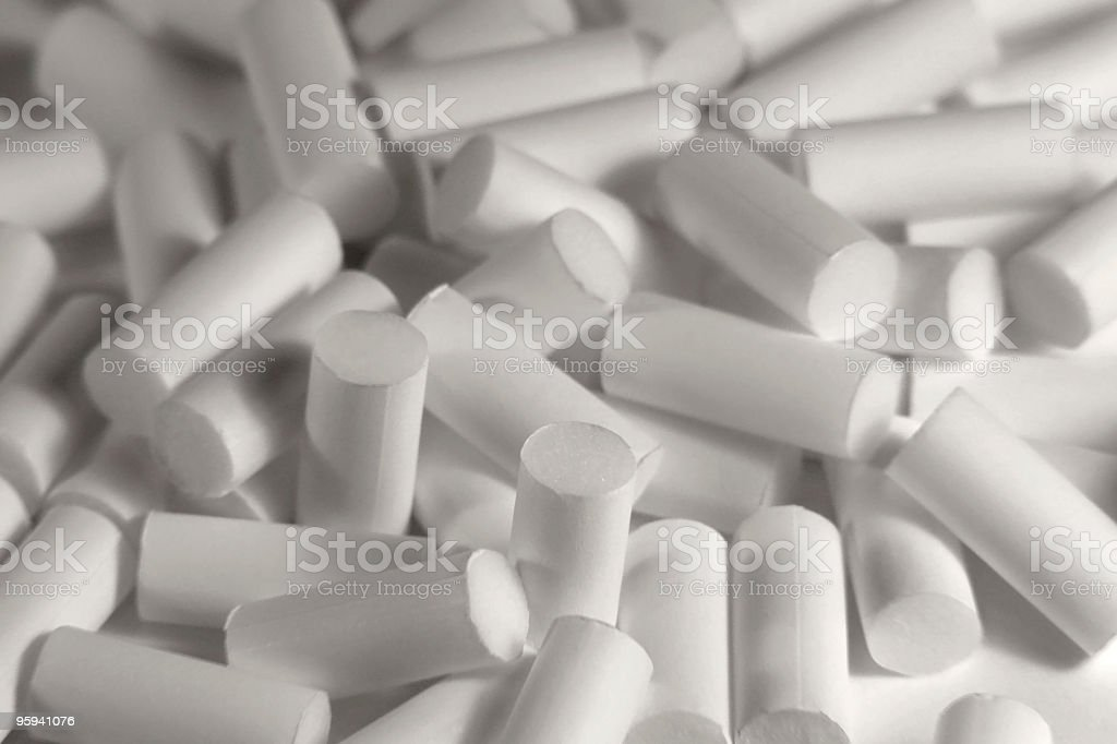 white cigarette filters royalty-free stock photo