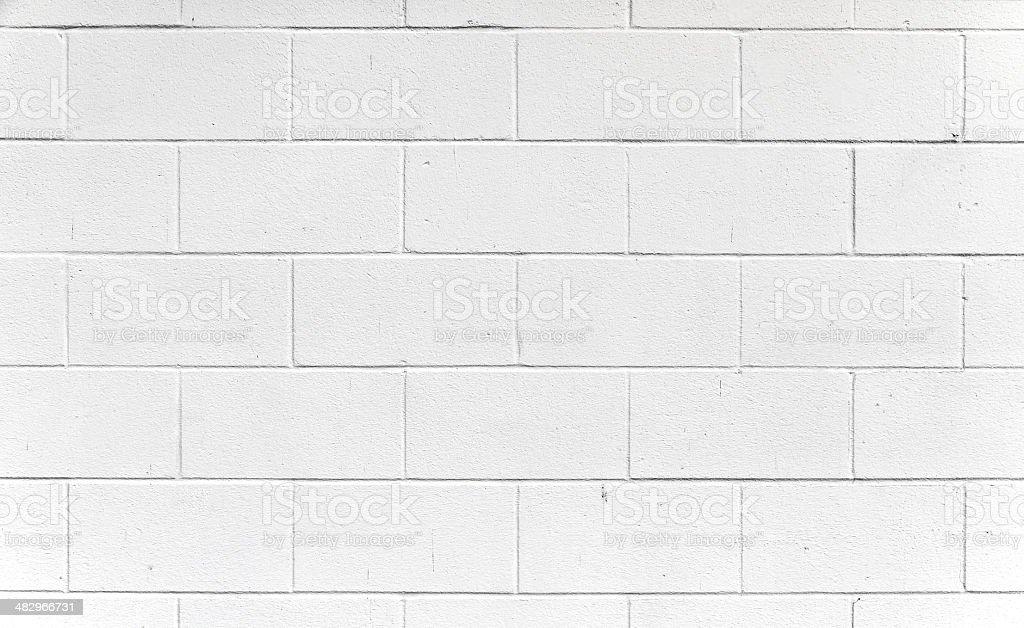 White Cinderblock wall. stock photo