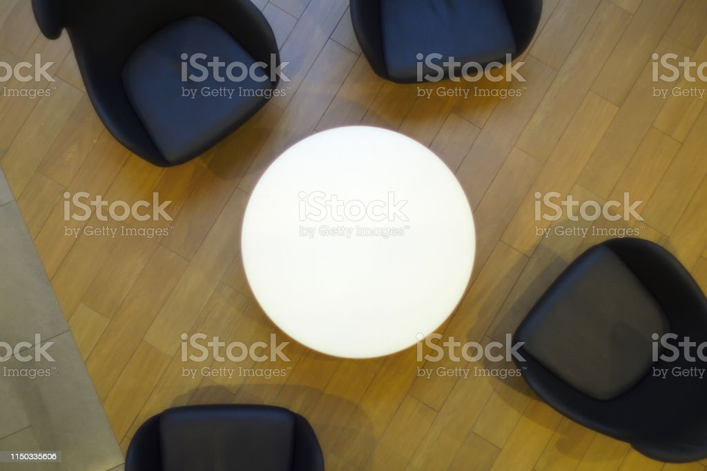 Pleasant White Circle Table Black Chairs Top View Cafe Restaurant Pdpeps Interior Chair Design Pdpepsorg