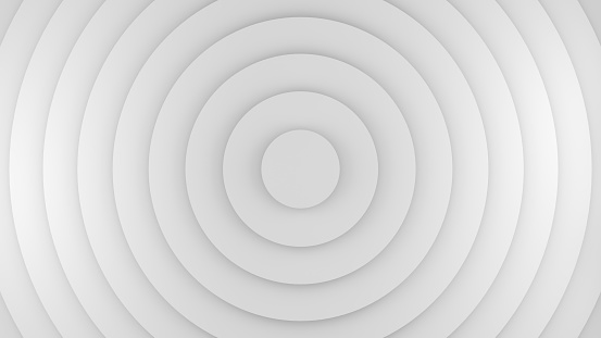 istock White circles abstract 3D rendering 944880328
