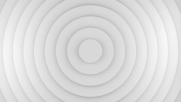 흰 동그라미 추상화 3d 렌더링 - 원형 뉴스 사진 이미지