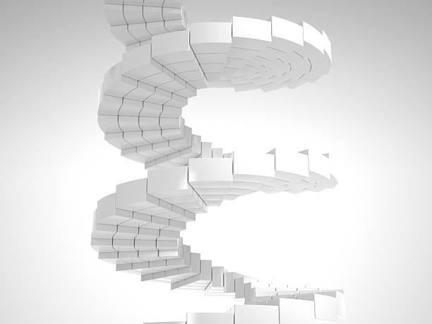 Weiße Runde Treppe aus viele Stücke – Foto