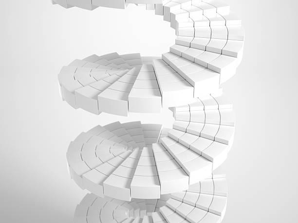Weiße Runde Treppe – Foto