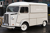 White Citroen H Van, 1969 model, close up