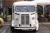 White Citroen H Van, vintage light truck
