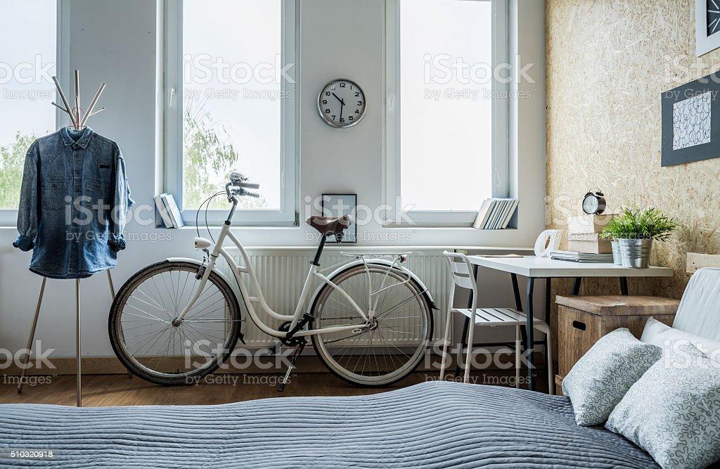 Weiß Stadt Fahrrad – Foto
