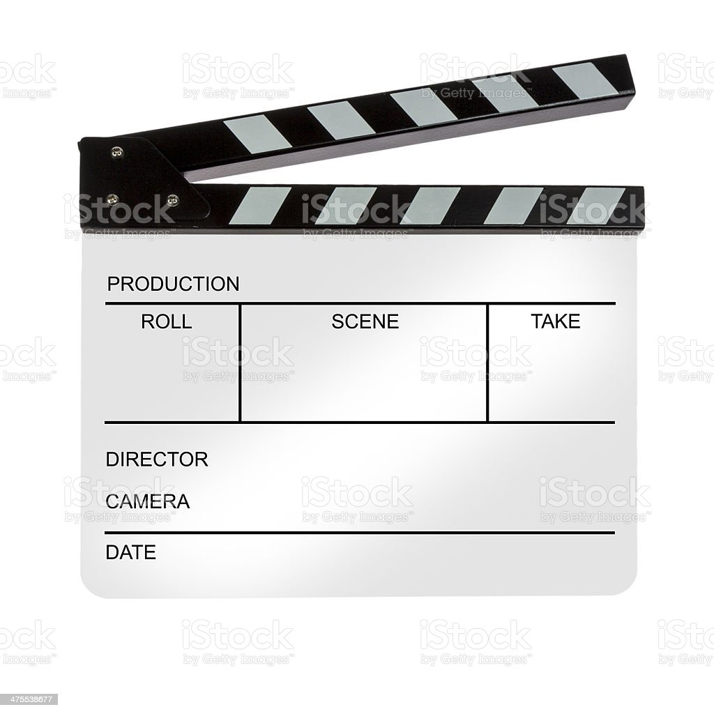 White Clapperboard stock photo