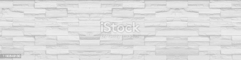 istock white clean Slate Marble Split Face Mosaic  pattern and background brick wall floor top view 1190849130