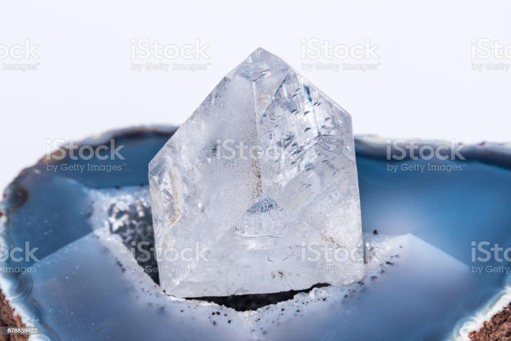 White clear crystal diamond gemstone gem jewel mineral precious 2 stock photo